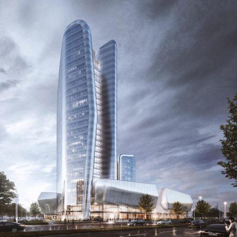 "The Pebble Towers<br>武汉嘉逸洲际酒店-""武汉鹅卵石塔楼"""
