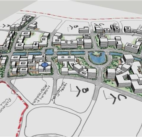 Kaiping New Town Master Plan Concept<br>中国开平镇项目总体规划概念